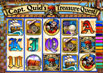 Click Here To Enlarge Captain Quids Treasure Chest and Bonus Game Review